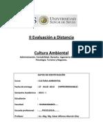 II Evaluación a Distancia Cult. Ambiental - 2013 - I.docx