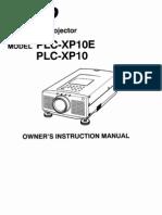 Sanyo PLC XP10 Manual