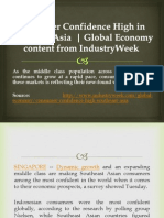 Consumer Confidence High in Southeast Asia - Global Economy Content From IndustryWeek