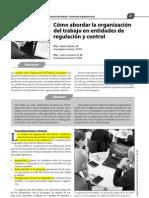 Como Abordar La Organizacion Del Trabajo en Entidades de Regulacion y Control
