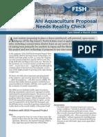 Enormous Ahi Aquaculture Proposal for Hawaii Needs Reality Check
