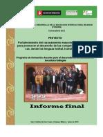 Informe Final. Fondeib 2013