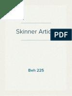 Skinner Article