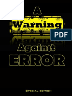 A Warning Against Error