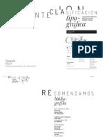 Apunte 1 Clasificacion Tipografica 2013