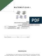 MATEMATICAS I Matríz de Asignatura
