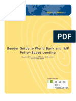 Dennis, Suzann & Elaine Zuckerman 2006 'Gender Guide to World Bank and IMF Policy--Based Lending' Gender Action (Dec., 37 Pp.)