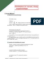 01 Distributions de courants, champ magnétostatique