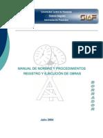 Manual de Normas y Procedimientos de Obras UCV