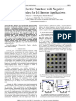Metallo-dielectric Structure with Negative Refractive Index for Millimeter Applications