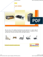 G. B. Tech (India), Delhi - Importer & Supplier of POUCH Lamination Machine, TheRMAL LAMINATION MACHINE, SPIRAL Binding MAchine