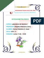 Informe de Laboratorio de Quimica - Lunes
