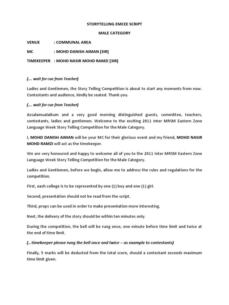 Emcee script 1