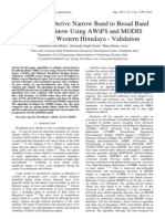 Algorithm to Derive Narrow Band to Broad Band Albedo for Snow Using AWiFS and MODIS Imagery of Western Himalaya - Validation