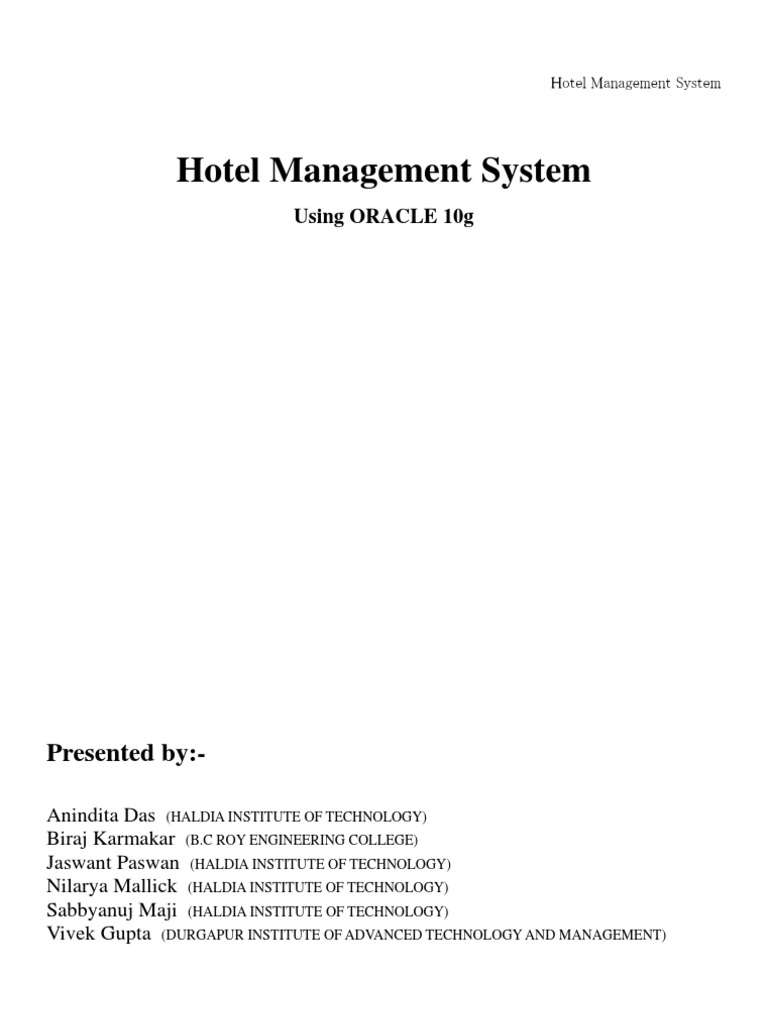 Hotel management system using oracle data model conceptual model ccuart Gallery