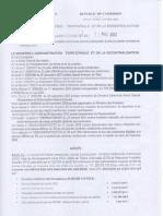 Réprtition des Impots Communaux 1 trim 2012