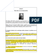 Unidad 5 Max Weber y La Sociologia Politica