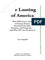 The Looting of America, by Les Leopold (Book Preview)