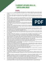 Economy Current Affairs 2011-12