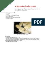 Món đậu phụ chiên sốt nấm và tôm từ dầu ăn Meizan