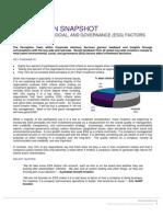 Perception Snapshot - ESG Factors