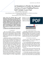 3D Finite Element Simulation to Predict the Induced Thermal Field in Case of Laser Cladding Process and Half Cylinder Laser Clad