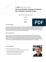 Autodesk Storm and Sanitary Analysis for Highway P1