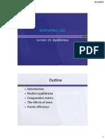 Economics 102 Lecture 10 Market Equilibrium Rev