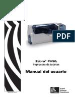 Guia de usuario Impresora Zebra P430i