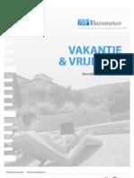 """ZZP Barometer - Themarapport """"Vakantie & vrije tijd"""""""