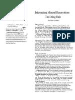 Duhig Rule Explained 1-21-12