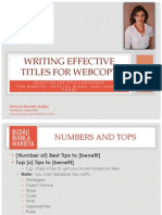 Writing Titles for Websites