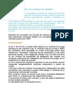 Exemple de Contrat de Mandat