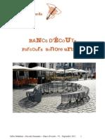 Bancs d'écoute, parcours sonore urbain