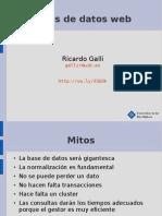 2010 Estrategias Para BD en La Web, Ricardo Galli