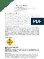 MSDS Potassium Permanganate