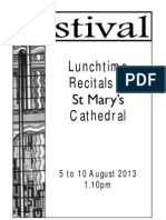 St Mary's Cathedral Festival Lunchtime Recitals Week 2