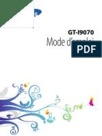 Samsung I9070 Galaxy S Advance Mode d'Emploi
