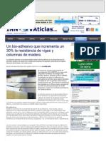Noticia en INNOVAticias.com sobre proyecto CELLUWOOD (julio 2013)