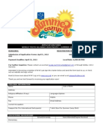 Summer Camp 2013_Application Form