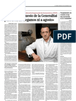 Entrevista tesorero Federación Empresarial de Farmacéuticos.