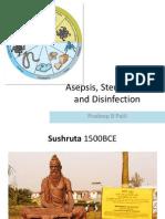 Asepsis and Sterilization Pradeep-Wednesday Talk Final1