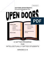 Open Doors handbook for Giftedness