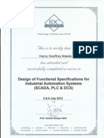 Design of Functional Specifications for Industrial Automation Systems (Scada, Plc ,And Dcs)