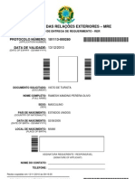 Ramesh Xandino Brasil Visa