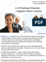 Mediation of Employee Disputes