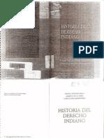 Historia Del Derecho Indiano - Ismael Sanchez Bella y Otros