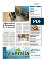 Gaviotas en el monte Benacantil