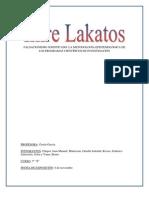 LA METODOLOGÍA DE LOS PROGRAMAS CIENTÍFICOS DE INVESTIGACIÓN