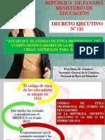 CÓDIGO DE ÉTICA PROFESIONAL DEL CUERPO DE EDUCADORES